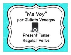Great activities for reviewing the present tense at the beginning of Spanish 2 or teaching it in Spanish 1