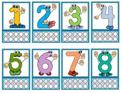 FREE!! This package contains flash cards for numbers 1-10 that can be used as…
