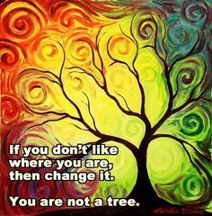 I like the picture but don't agree with the quote. Trees are steadfast and rooted. Their leaves fly away to new adventures and return in the spring reinvented and renewed every year. You can lead an amazing, adventurous life and reinvent yourself, yet remain true to your roots and remember where you came from.