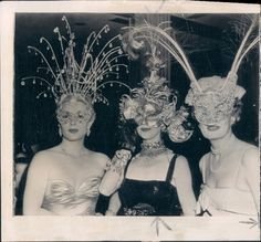Holiday masquerade party anyone? 1950: Lana Turner, Irene Dunne & Loretta Young