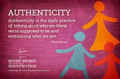 Oh Brene. How I adore you. Am putting her words into practice this week. #authenticity #brenebrown #OLCBreneCourse #Oprah