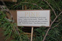 HG Botanical Themed party - Pine - Johanna Mason (Mockingjay quote)