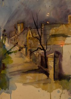 Ungarische Dorfstrasse Painting, Art, Art Therapy, Art Gallery, Artworks, Watercolor, Pictures, Art Background, Painting Art