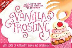 Vanilla Frosting Typeface by Nicky Laatz on @creativemarket