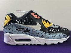 sports shoes efbf2 9fb8f Nike Air Max 90 Premium Ocean Bliss Sail-Black (700155 405) Size 9