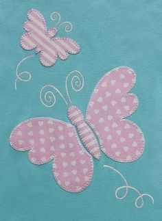 24 New Ideas Embroidery Designs Butterfly Quilt Patterns Butterfly Quilt Pattern, Applique Quilt Patterns, Applique Templates, Hand Embroidery Patterns, Applique Designs, Machine Embroidery Designs, Sewing Patterns, Bird Embroidery, Embroidery Stitches