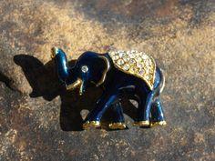 Vintage Elephant Brooch Enamel. $10.00, via Etsy.