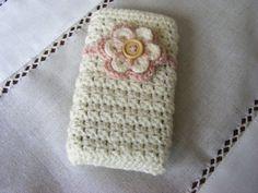 Crochet mobile phone cover crochet phone case by Bbabscrochet                                                                                                                                                                                 More