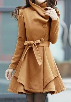 Camel Wrap Coat