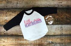 Little Miss Heatbreaker, Valentines Day Shirts, Cupid, Valentines Day, American Apparel, Raglan, Boy, Girl, Baby, Unisex clothing by RagTine on Etsy