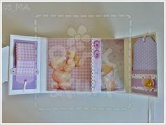 Mini Album para Bebé - Gémeos | Baby Twins Scrapbook Album