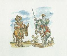 quixote, pain and beast Art, Humanoid Sketch, Painting, Beast
