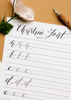 Modern calligraphy worksheets