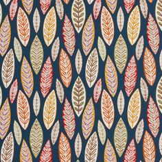 Aqua or Teal and Brown and Burgundy or Red or Rust and Coral or Orange or Persimmon and Gold or Yellow and Gray or Silver and Light Green color Contemporary and Foliage pattern Linen or Silk-Looks and Prints type Upholstery Fabric called K4333              by KOVI Fabrics