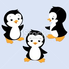 Cartoon Penguin Royalty Free Stock Vector Art Illustration
