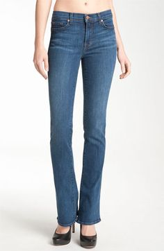 J Brand 'Janey' Super Slim Bootcut Jeans (Bluebell Wash) available at #Nordstrom