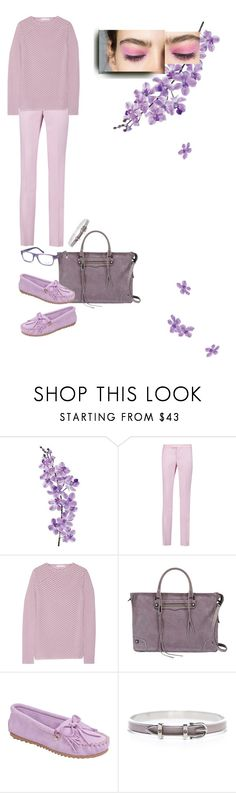 """Pink-up-line"" by nino-d-f ❤ liked on Polyvore featuring Laura Cole, Giambattista Valli, Cushnie Et Ochs, Rebecca Minkoff, Minnetonka, Hermès and Ray-Ban"