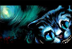 Cat Painting Black Cat Painting-Limited Edition by SAXONLYNN #cheshirecat #cheshire #cat #catpainting #aliceinwonderland #kitty #darkart #goth #dreams #night #winter #december