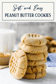 These classic, old-fashioned, homemade peanut butter cookies are thick, soft, full of peanut flavor, and easy to make! It's truly the best peanut butter cookie recipe that you'll ever taste. Homemade Peanut Butter Cookies, Best Peanut Butter, Natural Peanut Butter, Fun Desserts, Delicious Desserts, Yummy Food, Amish Recipes, Bar Recipes, Best Cookie Recipes