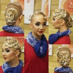 Stoning Details For Ballroom Competition Hair #Perfection http://www.dancingfeeling.com/