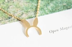 Rabbit /Bunny/Bonnie Necklace. Dainty Vintage Bunny Ear Necklace, Boho Bunny Necklace, Mickey Mouse Ears Necklace, Boho Rabbit Earrings