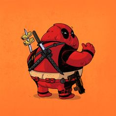 Famous Chunkies - Deadpool on a food bender - Alex Solis