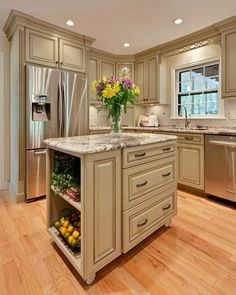 This is a similar layout to our kitchen, I'm thinking we can leave the fridge where it is an put some cabinetry around it to make it fit in.