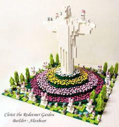 Christ the Redeemer Garden (Cristo Redentor): A LEGO® creation by Alan Cheung alanboar : MOCpages.com