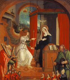 Hans Dürer - Mariae Verkündigung (mit hl. Andreas und hl. Jakobus, sowie sechs Stifterfiguren)