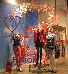 valentine's day window display - Google Search