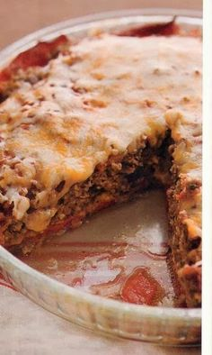 Crustless Tex-Mex Meatloaf-Cheddar Pie - Recipes, Dinner Ideas, Healthy Recipes & Food Guide