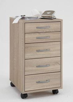 Rollcontainer Freddy Bürocontainer mit 5  Schubladen Eiche 8115. Buy now at https://www.moebel-wohnbar.de/rollcontainer-freddy-buerocontainer-mit-5-schubladen-eiche-8115.html