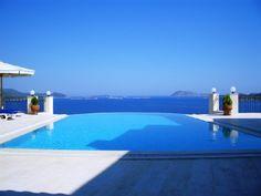 Villa-Panorama Kas  - Pool und Terrasse