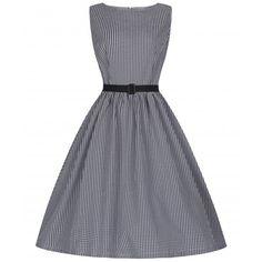 'Audrey' Black Gingham Day Dress