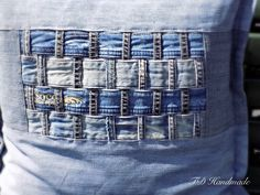 Handmade cushion/pillow cover recycled jeans/denim original by denimize on Etsy https://www.etsy.com/listing/244060467/handmade-cushionpillow-cover-recycled