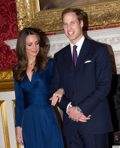 November 16, 2010. The surprise announcement that Prince William and Kate Middleton were engaged. Posing for photos in the State Apartments of St. Jame's Palace.