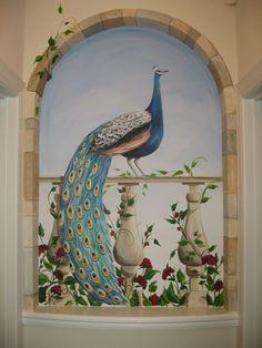 Peacock in window - Mural Idea in Millersville MD