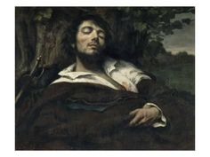 Giclee Print: L'homme blessé Art Print by Gustave Courbet by Gustave Courbet : 24x18in