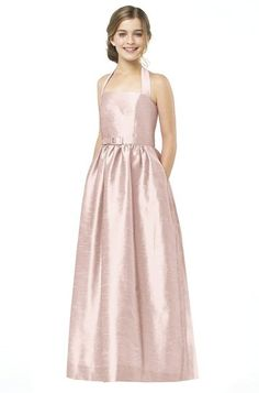 Alfred Sung - Pale Pink Junior Bridesmaid Dress Dupioni