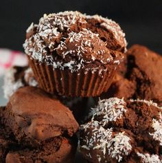 Chocolate buckwheat muffin - sub coconut oil & goat milk and leave out the goji berries.