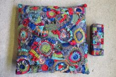 Happy cushion with matching doorstop.