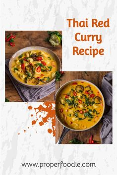 A creamy and full flavoured Thai red curry recipe with tender chunks of chicken and oven roasted veggies. Make this simple Thai red curry in just 30 minutes and for a boost of flavour try it with homemade Thai red curry paste. Thai Red Chicken Curry, Thai Red Curry, Roasted Veggies In Oven, My Favorite Food, Favorite Recipes, Thai Curry Recipes, Coconut Sauce, Red Curry Paste, Recipe Community