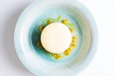 Quark Soufflé, Passion Fruit & Linseed Oil