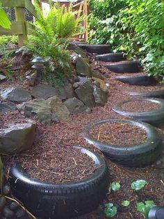 Upcycled Garden Ideas #garden #diy #spring