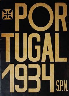 "Book cover for ""Portugal 1934"" (Lisbon, Edited by S.P.N. - Secretariado Nacional de Propaganda, 1934) 1934"