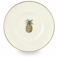 Lenox Colonial Bamboo Gold Banded Bone China Dessert Plate by Lenox. $13.70. Dishwasher- and microwave-safe. Accented with 24 karat gold. Crafted of Lenox fine bone china. The pineapple, a universal symbol of hospitality, graces the center of this delicious dessert plate. Its golden-brown hues complement those in other Colonial Bamboo pieces. And its green leaves complement the palms in Colonial TradewindÖ and the slats in Colonial ShutterÖ. Designed by renowned m...