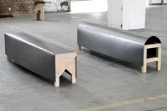 steel benches by max lipsey.
