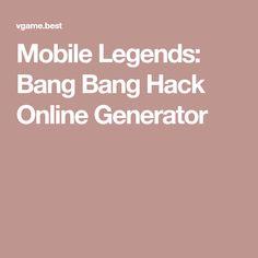 Mobile Legends: Bang Bang Hack Online Generator Bruno Mobile Legends, Miya Mobile Legends, Games For Fun, V Games, Android Mobile Games, Android Apps, Alucard Mobile Legends, Mobile Generator, Hacker Wallpaper