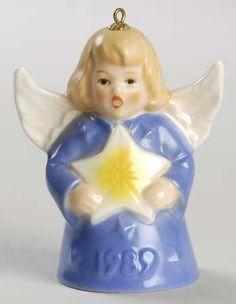 Goebel Angel Bell Ornament Star-Purple - Boxed