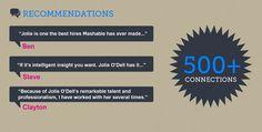 #CV testimonials and references